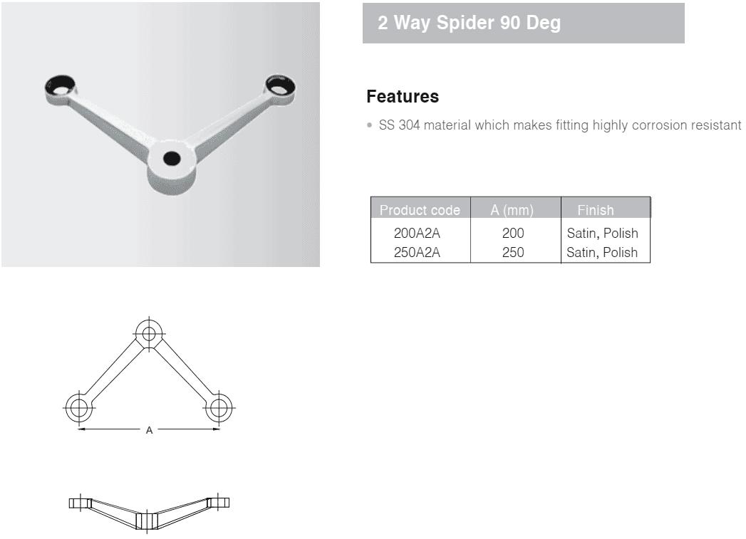 Chân nhện 2 90 độ